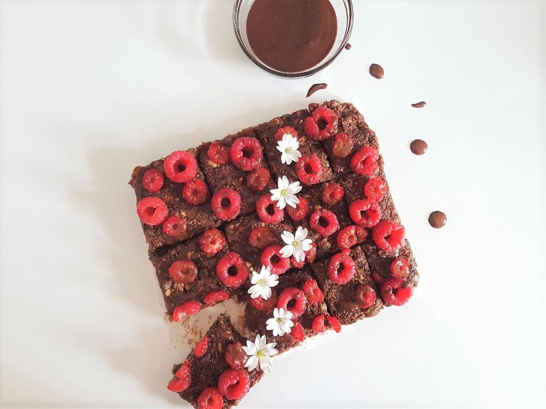 raw brownie
